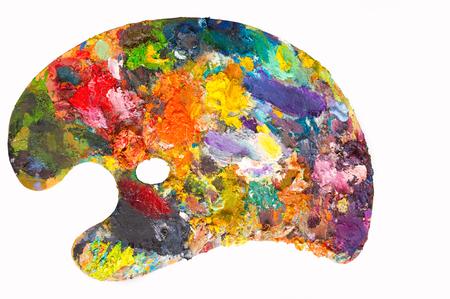 Painters palette . The artist's palette Banco de Imagens - 60713481