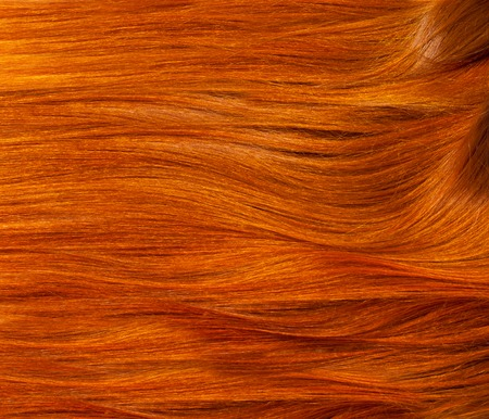 Texture, background. human hair red color.  highlight hair texture abstract background. Stock Photo