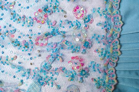 nikolay: womens dress. Blue color. blue lace. texture