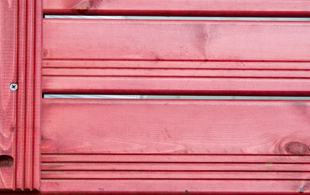 slat door: Texture background red wooden slats. Fence