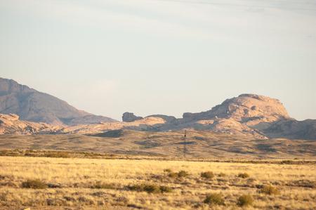 ata: Mountain range Bektau- Ata. Tract Bektau- Ata. Central Asia Kazakhstan.