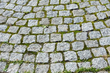 Texture, background. Background. Wild stone bridge lined with cobblestones Stock Photo