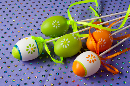 christian festival: Easter eggs. the most important and oldest festival of the Christian Church, celebrating the resurrection of Jesus Christ on the first Sunday after the first full moon