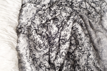 jeanswear: Texture, background. Womens skirt. Figure horses Stock Photo