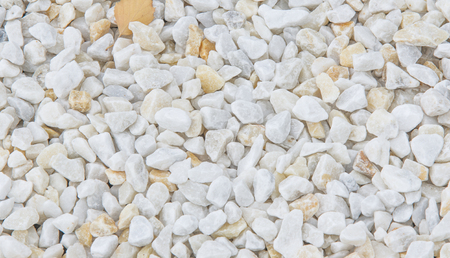 metamorphic: Texture, pattern, background. Gravel marble chips, marble pebbles, a hard crystalline metamorphic form of limestone, Stock Photo