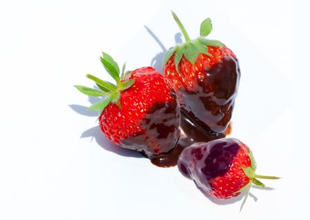 chocolate covered strawberries: Chocolate covered strawberries. Chocolate dipped strawberries at dessert bar.