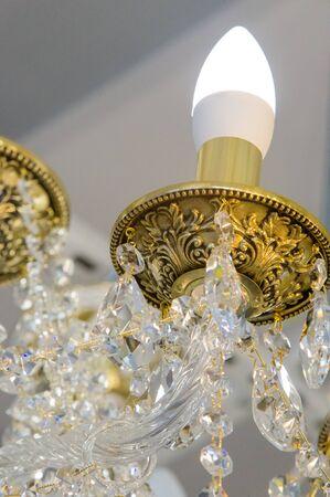 Texture, pattern, background. crystal chandelier
