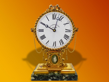 MAGNIFICENT ANTIQUE EDW. F CALDWELL & CO GILDED BRONZE CLOCK Wedgwood Jasperware. GOOD ANTIQUE CONDITION, WEAR TO GILDING, KEEPS TIME
