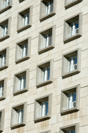 reinforced: Texture, pattern, background. Windows of reinforced concrete buildings, urban landscape Stock Photo