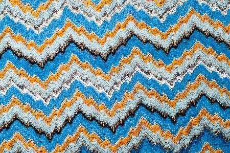 Missoni fabric wool texture. Pattern sweater Stock Photo