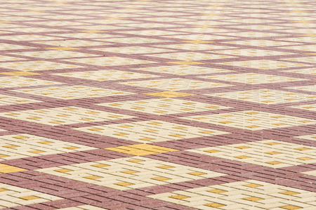 texture background colorful area lined with paving slabs stock