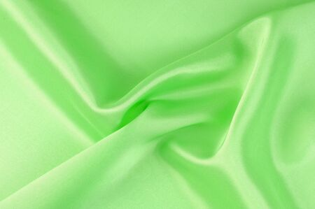 Green textiles. Photo taken in the studio Stock Photo