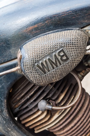increased: 31.07 2015 Russia Tatarstan. Yelabuga, Spasskaya FairÑŽ old BMW motorcycle