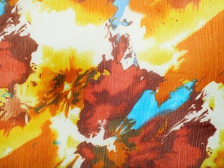 Fabric silk texture brown, blue, white, yellow.  Photography Studio