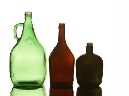 Decorative Empty beautiful bottles. texture of the bottle