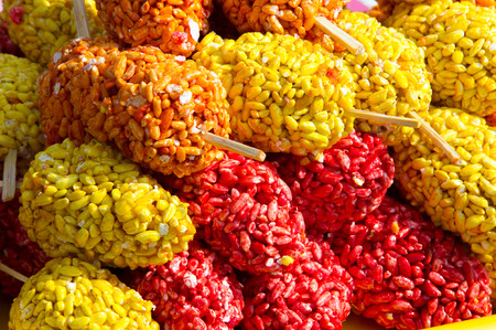 Puffed rice is a type of puffed grain made from rice, commonly used in breakfast cereal or snack foods