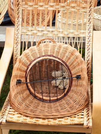 Wicker is a material made of plant stalks, branches or shoots formed by a kind of weaving into a rigid material