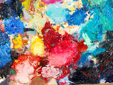 oily: Painters palette . The artists palette Stock Photo