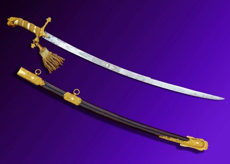 ULTRA HIGH GRADE ANTIQUE PRESENTATION QUALITY SWORD SABER H. WILKINSON lion head