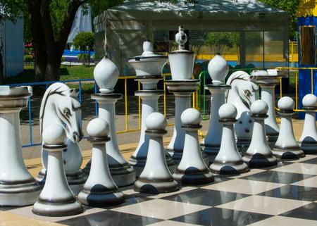 Texture, arrière-plan Contexte. BIG d'échecs dans le parc Banque d'images - 76571355