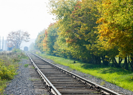 railway, railroad, rail, elevated. a track or set of tracks made of steel rails along which passenger and freight trains run.