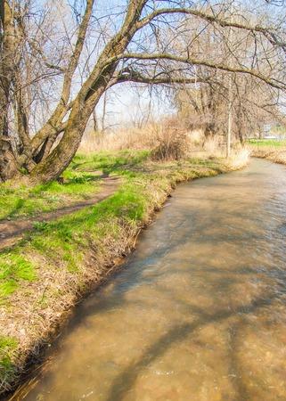 bourn: elm. apricot. creek. watercourse. brook. groove. rivulet. run. beck. nullah. bourn. pass. floss
