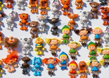 Magnets for the fridge. Fabulous toys Stock Photo