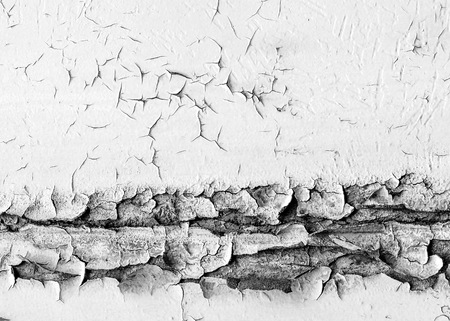 weathered: Texture, pattern, background. old paint. Concrete wall cracked paint, paint abstractly behind the concrete. With white tone paint flakes off over time