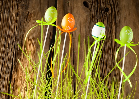 Easter eggs. the most important and oldest festival of the Christian Church, celebrating the resurrection of Jesus Christ on the first Sunday after the first full moon