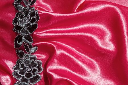 Texture, fabric, background. Abstract background of luxury fabric or liquid waves or wavy grunge crease silk textures of satin velvet material or luxurious Christmas background or elegant