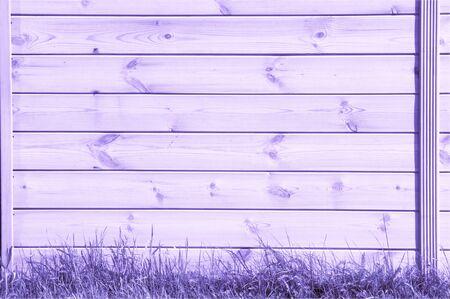 Peint en bleu lilas, les planches sont vues d'en haut comme arrière-plan avec de l'espace pour la copie et l'assemblage. Banque d'images - 79143143