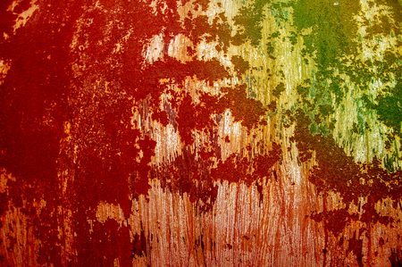 Texture, background, pattern. Old rusty iron. Rusty metal. Rusty metal background. Corrosion. It shows an abstract modified corroded and tarnished metal lay
