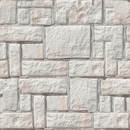 Textuur, achtergrond, patroon. Naadloze textuur. Behandelde stenen muur. De achtergrond van het muuroppervlak van de behandelde stenen. Stockfoto