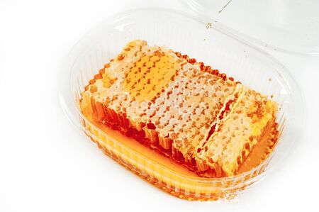 effectiveness: Cellular. Honey. The structure of hexagonal cells of wax, made by bees for storing honey and eggs.