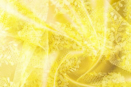seamlessly: Background texture, pattern. Lace is yellow fabric.