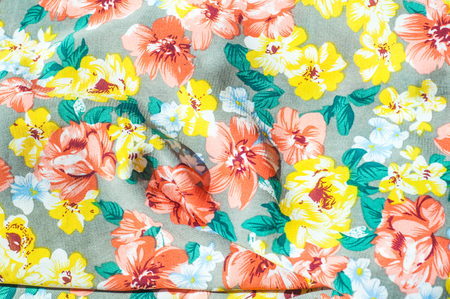 Texture background pattern girls skirt silk fabric with stock stock photo texture background pattern girls skirt silk fabric with floral pattern red yellow flowers mightylinksfo