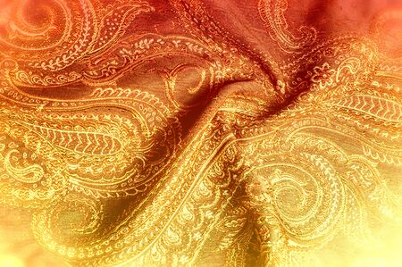 Texture background pattern. Cloth is dense in Indian style Texture background pattern. Traditional Indian Paisley pattern. Decorative border for textile, wrapping, decor.