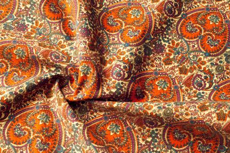 Texture background pattern. Traditional Indian Paisley pattern.  decorative border for textile, wrapping, decor. Stock Photo