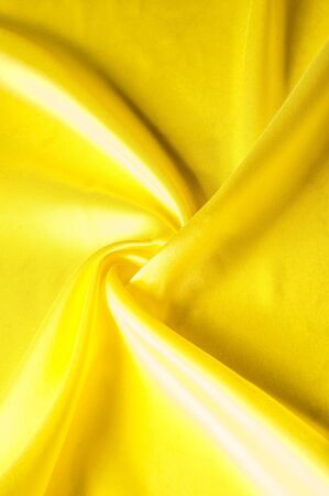 Texture Background Pattern. Silk Fabric, Yellow Fabric. On A.. Stock ...