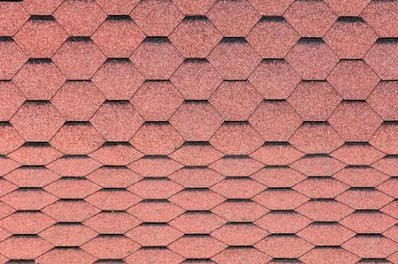 texture, background, pattern. roofing tiles. flexible, soft, bituminous, composite Stock Photo