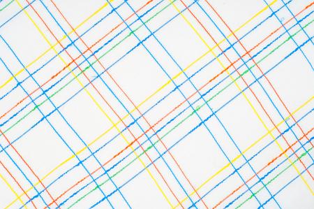 テクスチャ、背景、パターン。シャツ。ブルーホワイトピンクグリーンケージの中のファブリックシャツ。抽象パターン