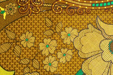 質感、色柄の生地、茶色の緑の花。ファッションの最前線に花のイメージは、ここではオートクチュールのレベルにあるミカドのデジタルプリント