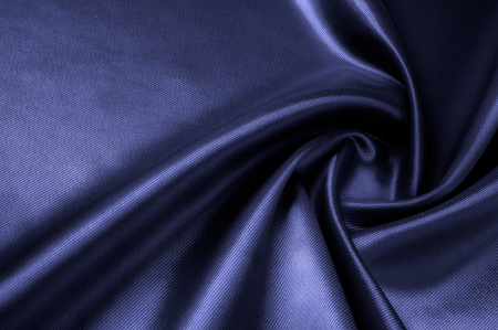 Texture, background, pattern. Fabric silk color cobalt, smalt, blue royal.