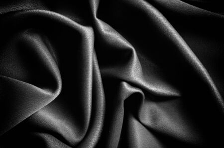 テクスチャ、背景。テンプレートです。学校布は黒、グレー。ライリー ブレイク シングル ジャージー ニットの固体生地の 2 つの連続的なヤード 写真素材 - 90222654