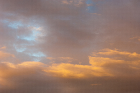 Landscape with clouds sky. clouds at sunset, sunrise Stock Photo
