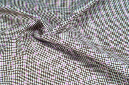 Background texture, pattern. cotton cloth, checkered pattern and is distinguished by white and colored, even-sized checks.This pattern is formed by horizontal and vertical stripes   Stok Fotoğraf