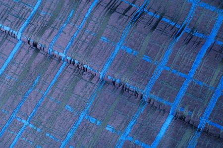 Texture, fabric, background. Woolen cloth. Dark blue stripes. Black Stripes Standard-Bild - 96330220