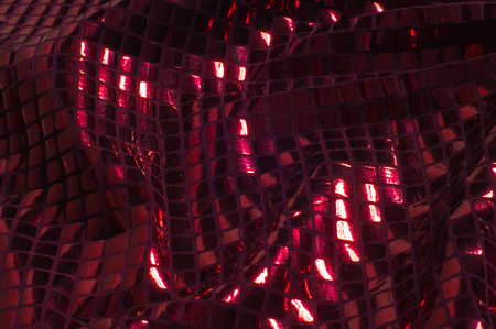 texture background pattern Fabric with large paillettes of red color If you go to the angelic gaze or the aesthetics of the mermaid, these red big sparkles shine for you! paillette covers a solid mesh Stock fotó