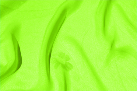 Background texture pattern. Lime Solid Silk Faile. Presenting this high quality silk faille made specifically for Mood This gorgeous, medium-weight fabric contains a rich luminescence is super smooth Stock Photo