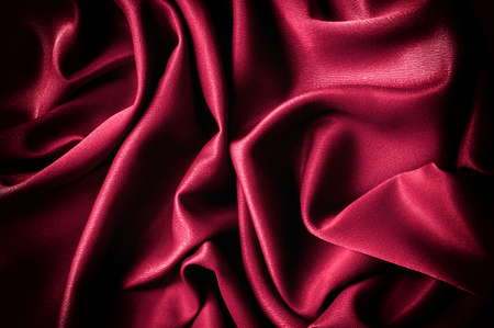 Texture, background. template. Silk fabric is colorful, This listing is for an exquisite and beautiful. BLEND dupioni silk fabric in red.  Crepe de Chine, stone-washed , solid color scarlet red,